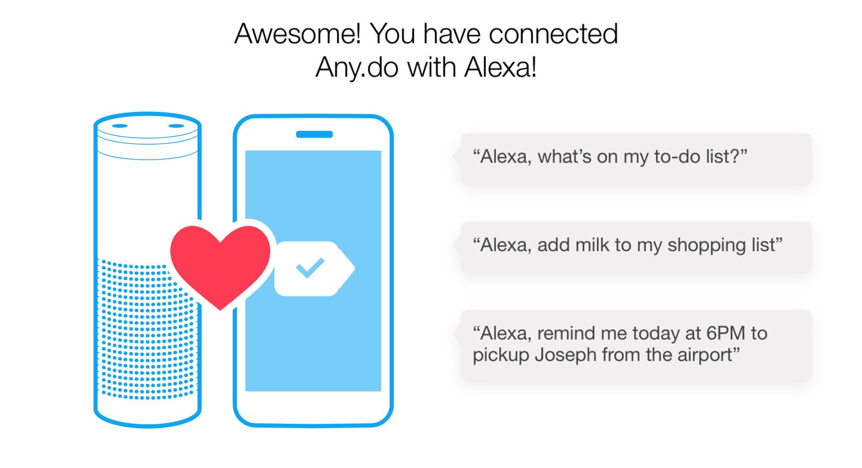 Any.do Amazon Echo Alexa