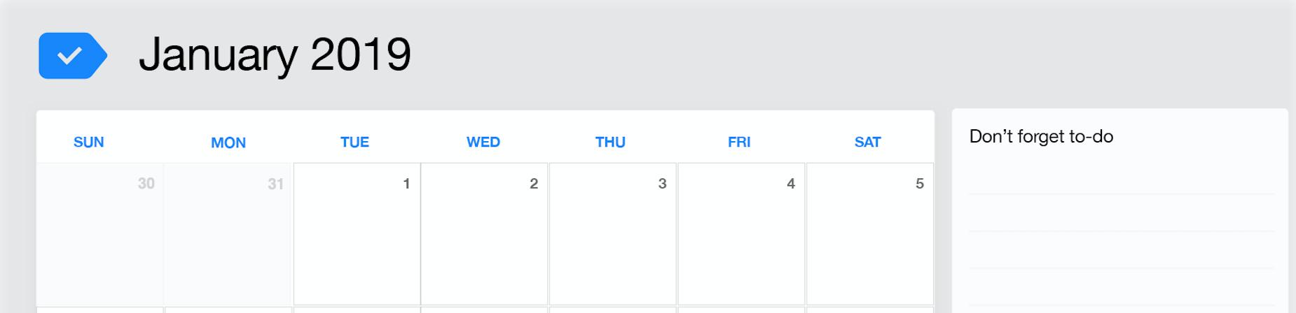 September 2019 Printable Calendar Any Do