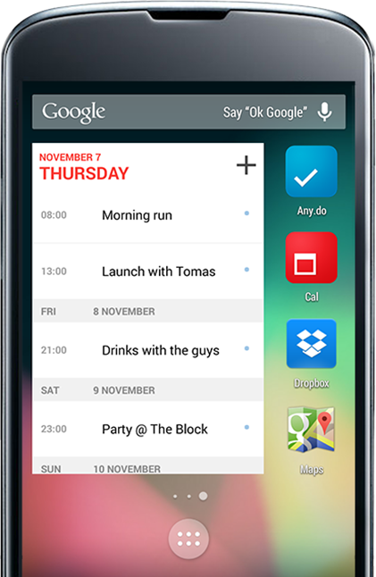 Cal widget for Android