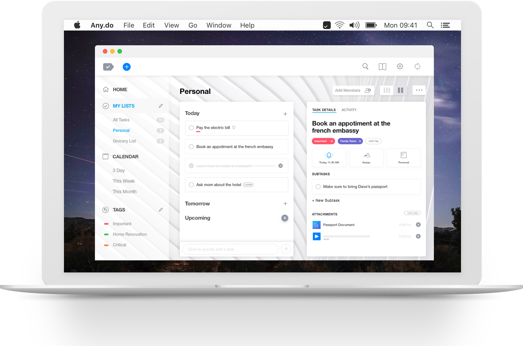 the best to do list app for mac any do